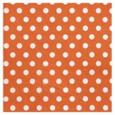 Serviettes à pois (x20) orange / blanc
