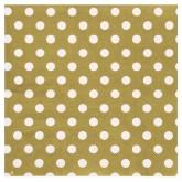 Serviettes à pois (x20) or / blanc