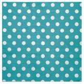 Serviettes à pois (x20) turquoise / blanc