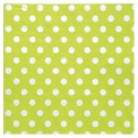 Serviettes à pois (x20) vert anis / blanc