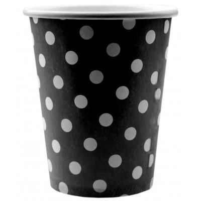 Gobelets à pois (x10) noir