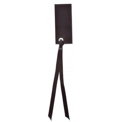 Marque place rectangulaires à nouer (x12) noir
