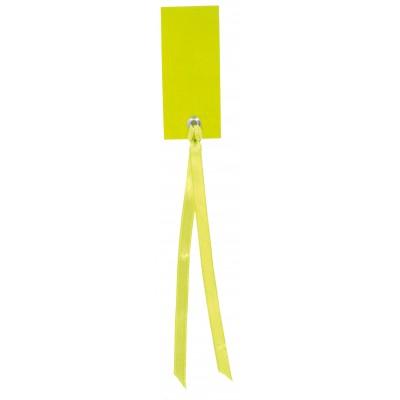 Marque place rectangulaires à nouer (x12) vert anis