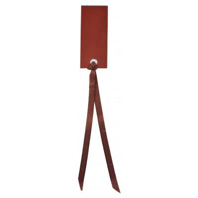 Marque place rectangulaires à nouer (x12) chocolat