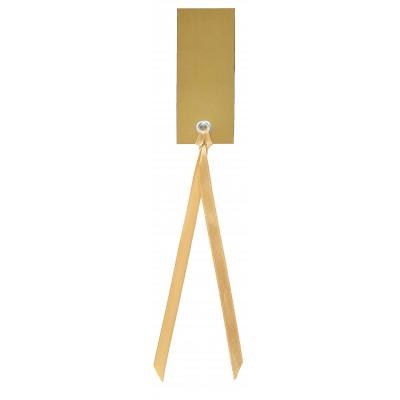 Marque place rectangulaires à nouer (x12) or
