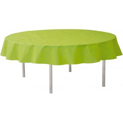 Nappe ronde qualité supérieure vert anis