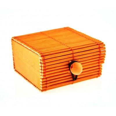 Coffre en  rotin orange