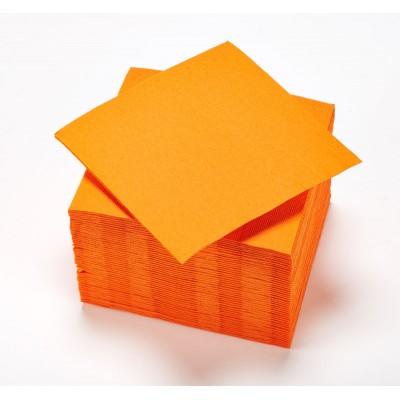 Serviettes unies (x25) orange