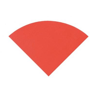 Serviettes rondes pliées (x20) rouge