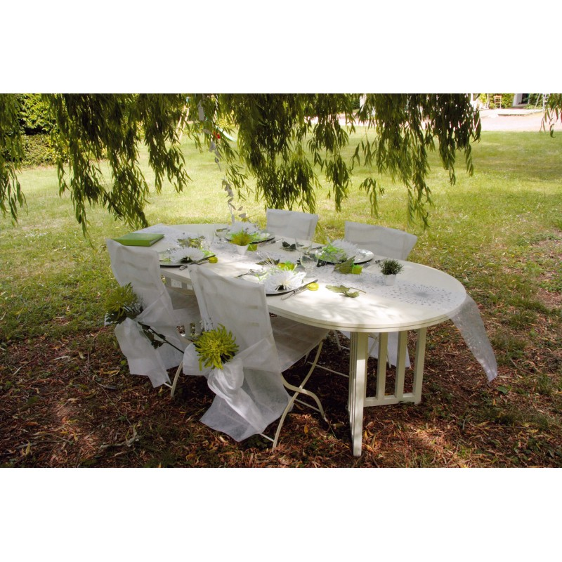 housses de chaise blanches x10 noeud en non tiss. Black Bedroom Furniture Sets. Home Design Ideas