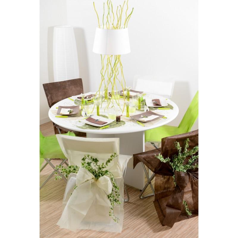 housses de chaise ivoire x10 noeud en non tiss. Black Bedroom Furniture Sets. Home Design Ideas