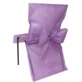 Housses de chaise parmes (x10) + noeud en non tissé
