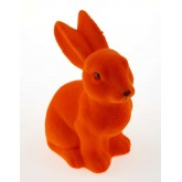 Grand lapin flocké orange