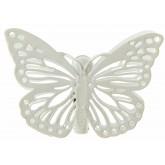 Pinces papillons ciselés (x4) ivoire