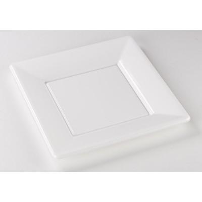 Assiettes carrées (x8) blanc