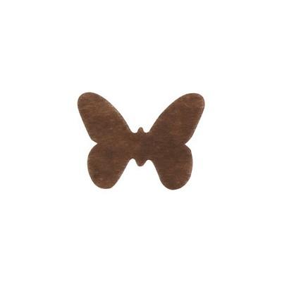 Dessous de verre papillon non tissé (x12) chocolat