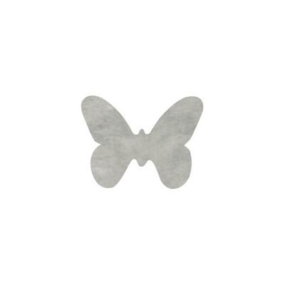 Dessous de verre papillons en non tissé (x12) gris