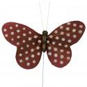 Papillons plumetis pailletés x6 chocolat / blanc