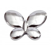 Papillons métallisés (x12) argent