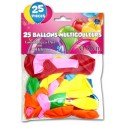Ballons de couleur (x25) multicolore