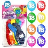 Ballons 18 ans (x8)
