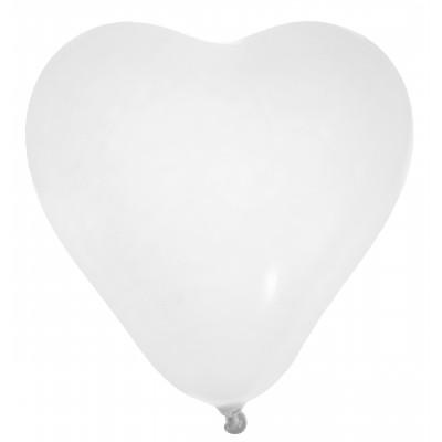 Ballons en forme de coeur (x8) blanc