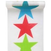 Chemin de table cirque et ses étoiles multicolores