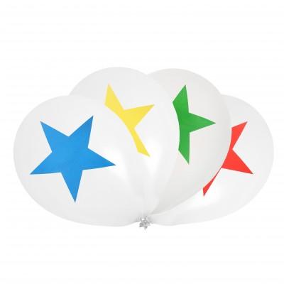 Ballons cirque - étoile (x8)