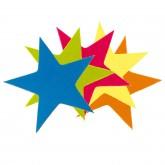 Confettis cirque étoiles multicolore (x50)