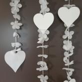 Guirlande Coeurs et Fleurs Blanc