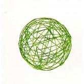 Mini balles fil d'alu (x12) vert anis