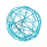 Mini balles fil d'alu (x12) turquoise