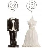 Couple de mariés marque place