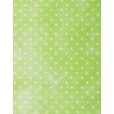Chemin de table vert anis / blanc plumetis en intissé
