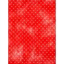 Chemin de table rouge / blanc plumetis en intissé