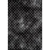 Chemin de table noir / blanc plumetis en intissé