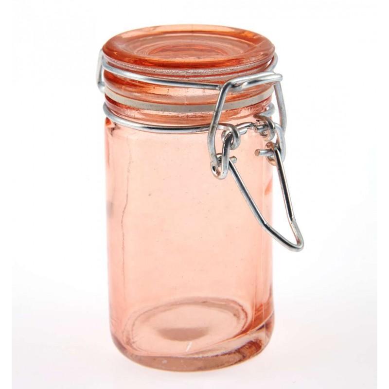 Bocal en verre de couleur orange - Bocal en verre deco ...