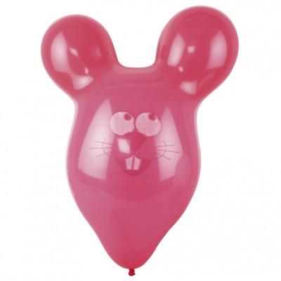 Ballon souris géant (x3) couleur fuchsia