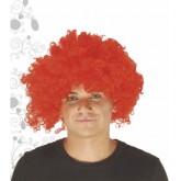 Perruque rouge bouclée