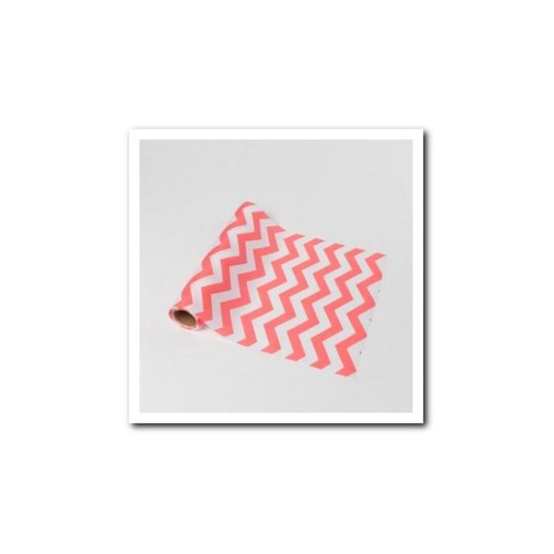 Chemin de table chevron corail en tissu - Chemin de table tissu ...