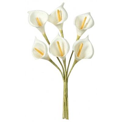 Arums en tissu (x24) ivoire