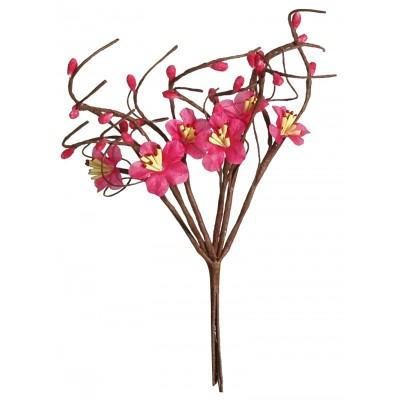 Fleurs de pommier (x12) fuchsia