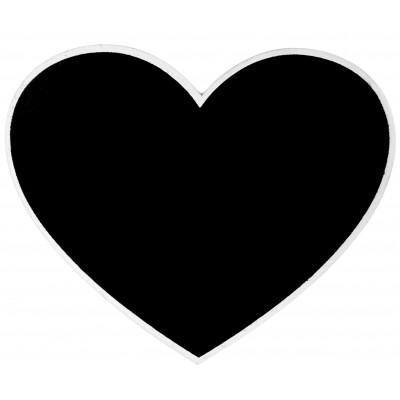 Grand cœur ardoise marque-table blanc