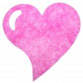 Sets coeur en intissé (x6) fuchsia