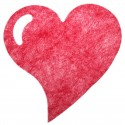 Sets coeur en intissé (x6) rouge