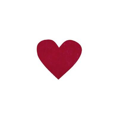 Confettis coeur non tissés (x100) bordeaux