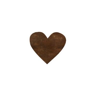 Confettis coeur non tissés (x100) chocolat