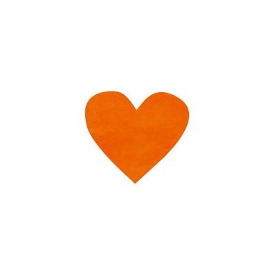 Confettis coeurs non tissés (x100) orange