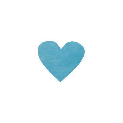 Confettis coeurs non tissés (x100) turquoise