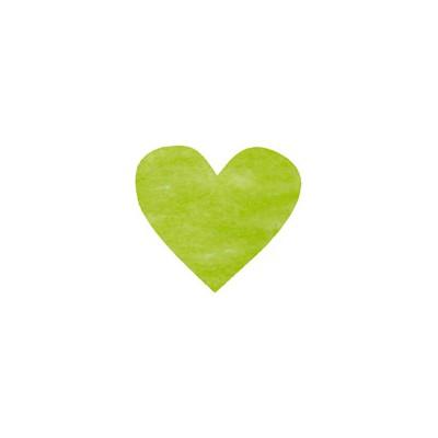 Confettis coeurs non tissés (x100) vert anis